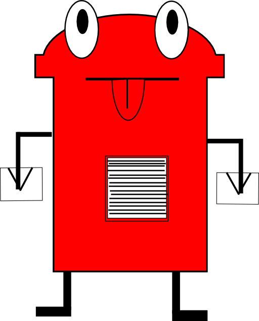 Post box i royalty. Mail clipart postbox