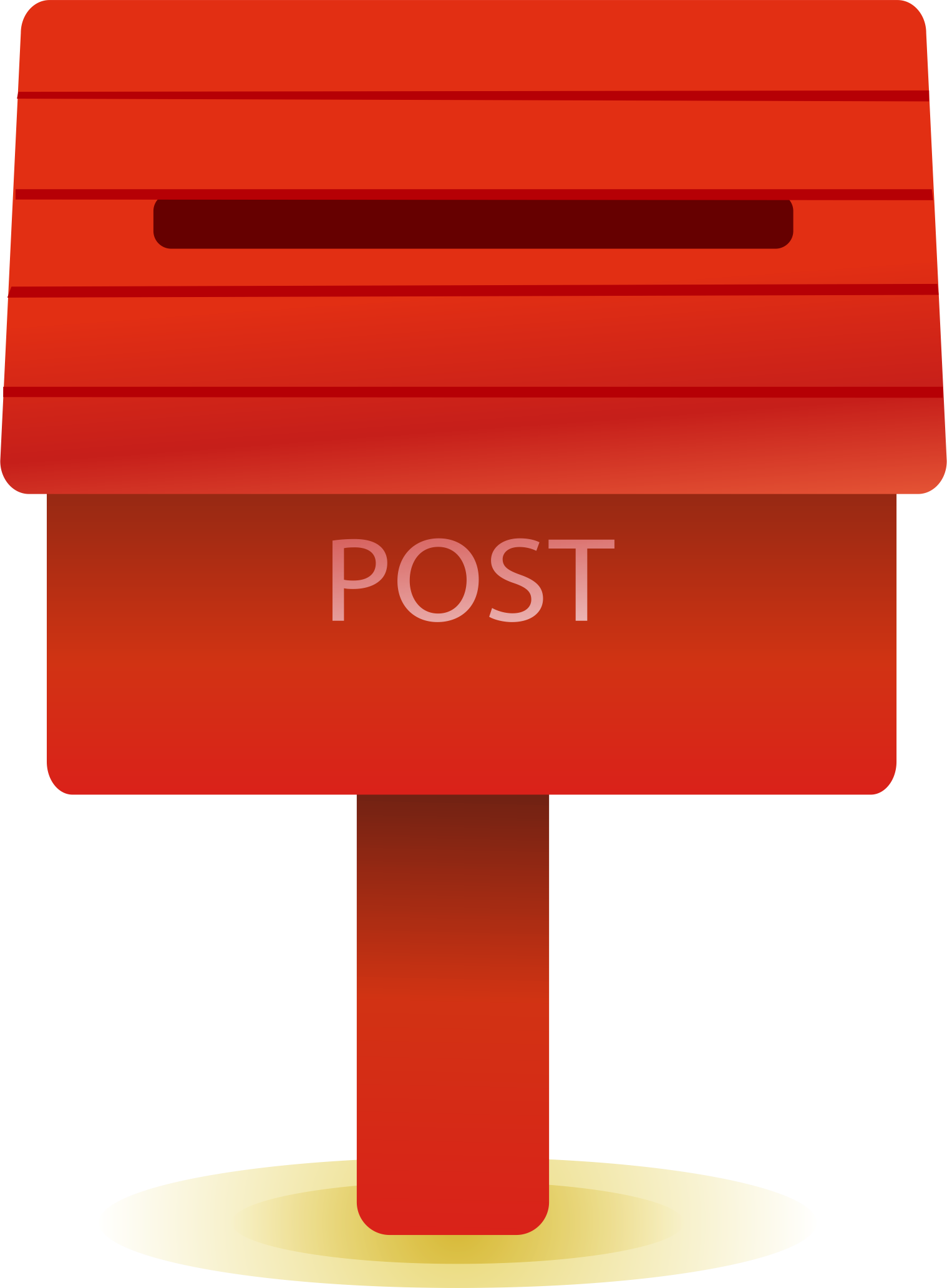 Mailbox clipart drawn. Red cartoon drawing box