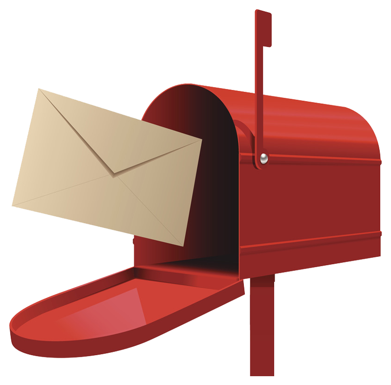 Post box letter illustration. Mailbox clipart postbox
