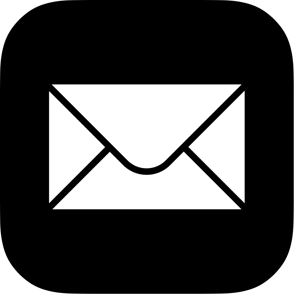 Font email svg png. Mail clipart vector icon