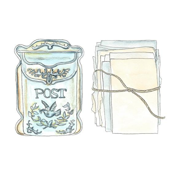 Mailbox clipart vintage mailbox. Mail snail planner sticker