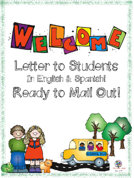 To students in english. Mail clipart welcome letter