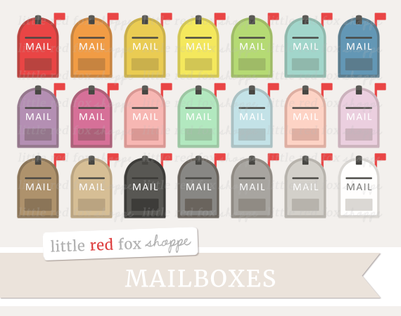 Mailbox clipart. By little red fox