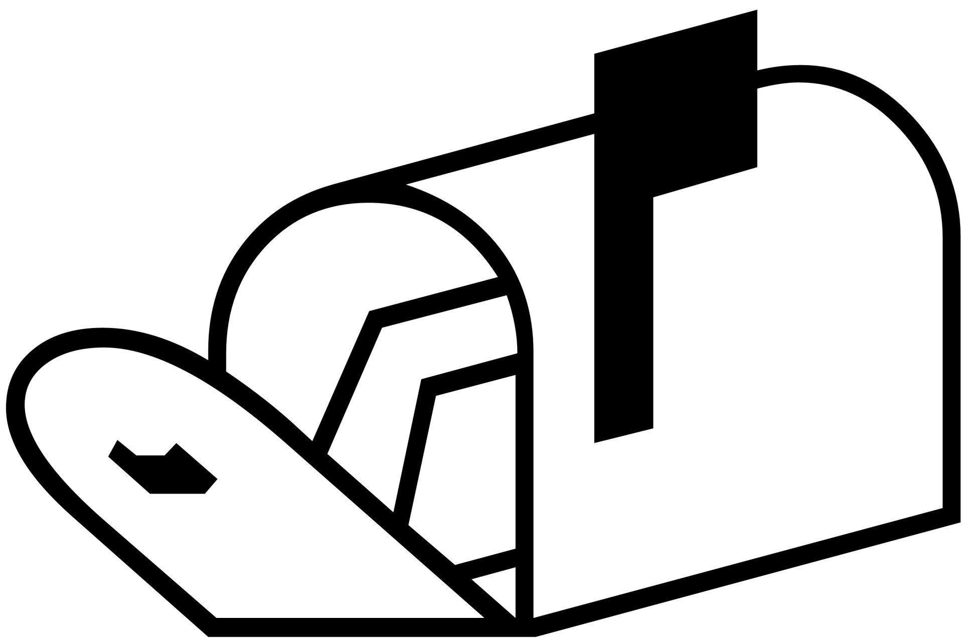 Mailbox clipart black and white. Free download best