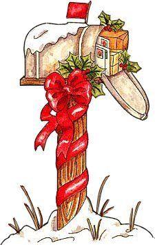 Mailbox clipart christmas. Stuffed winter ii vintage
