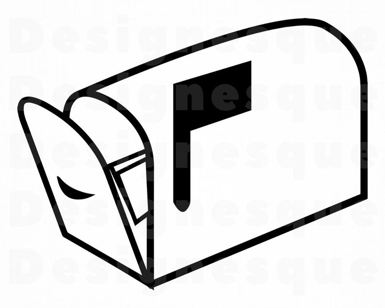 Opened svg mail files. Mailbox clipart closed
