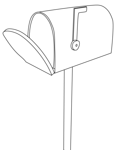 Mailbox clipart coloring. Page free printable pages