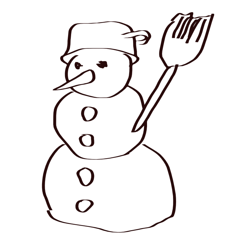 Mailbox clipart coloring. Free snowman pictures images