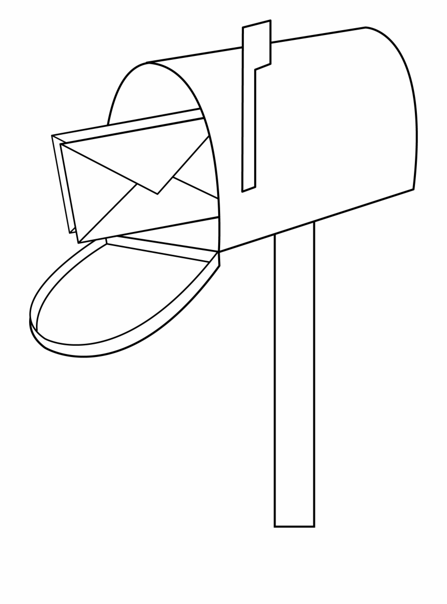 Pics of mail cartoon. Mailbox clipart coloring