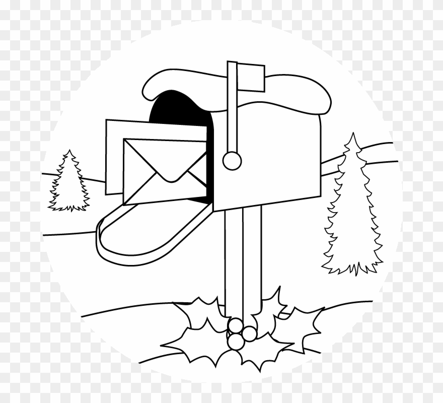 Mailbox clipart coloring. Activity pages page
