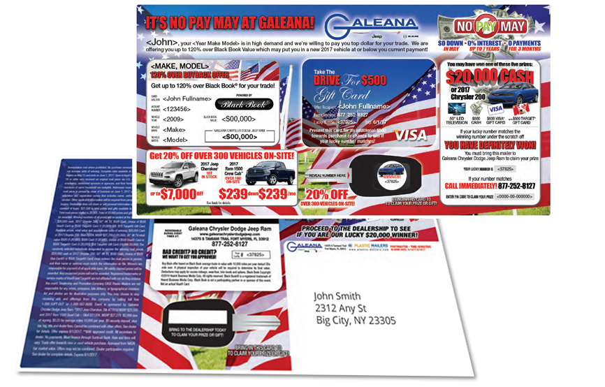 Plastic postcard mailer products. Mailbox clipart direct mail