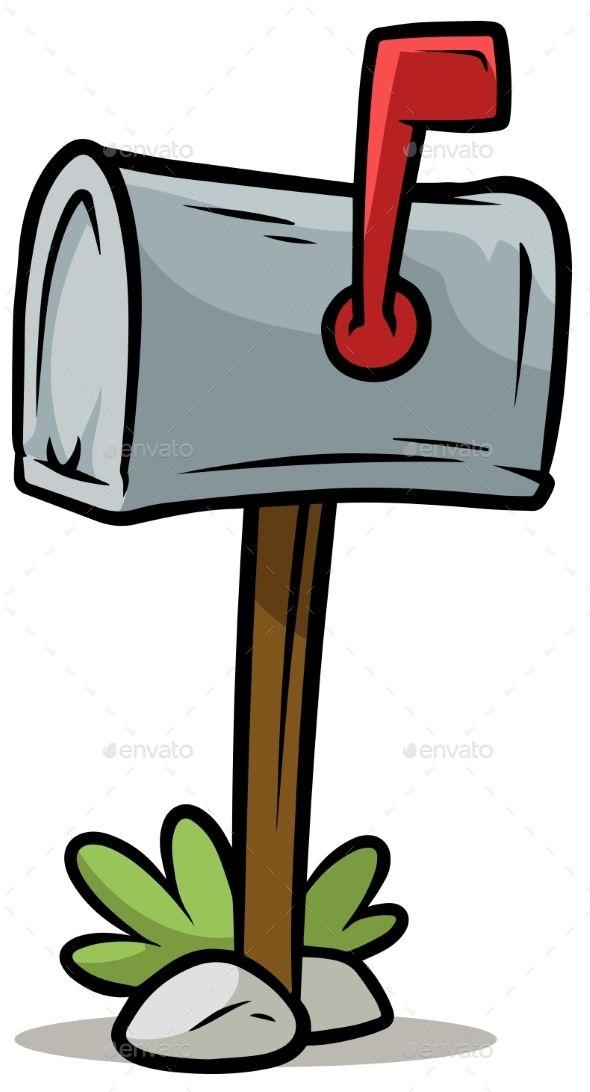 Mailbox clipart drawn. Cartoon silver vector icon