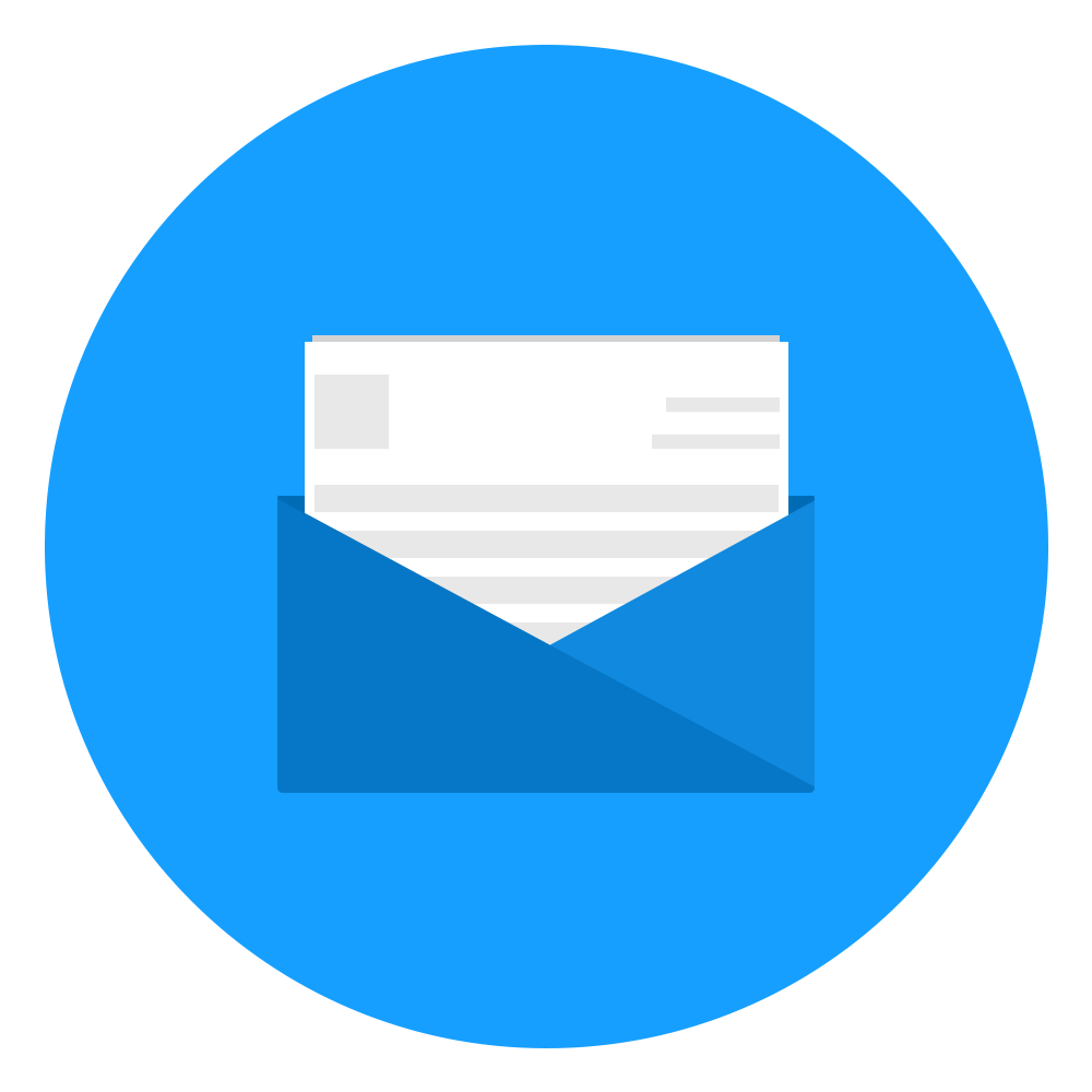 Mail icon . Mailbox clipart flat