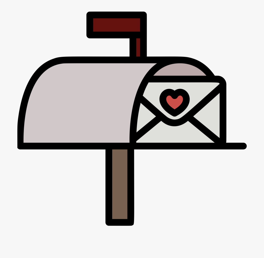 Mailbox clipart heart. Cliparts cartoons