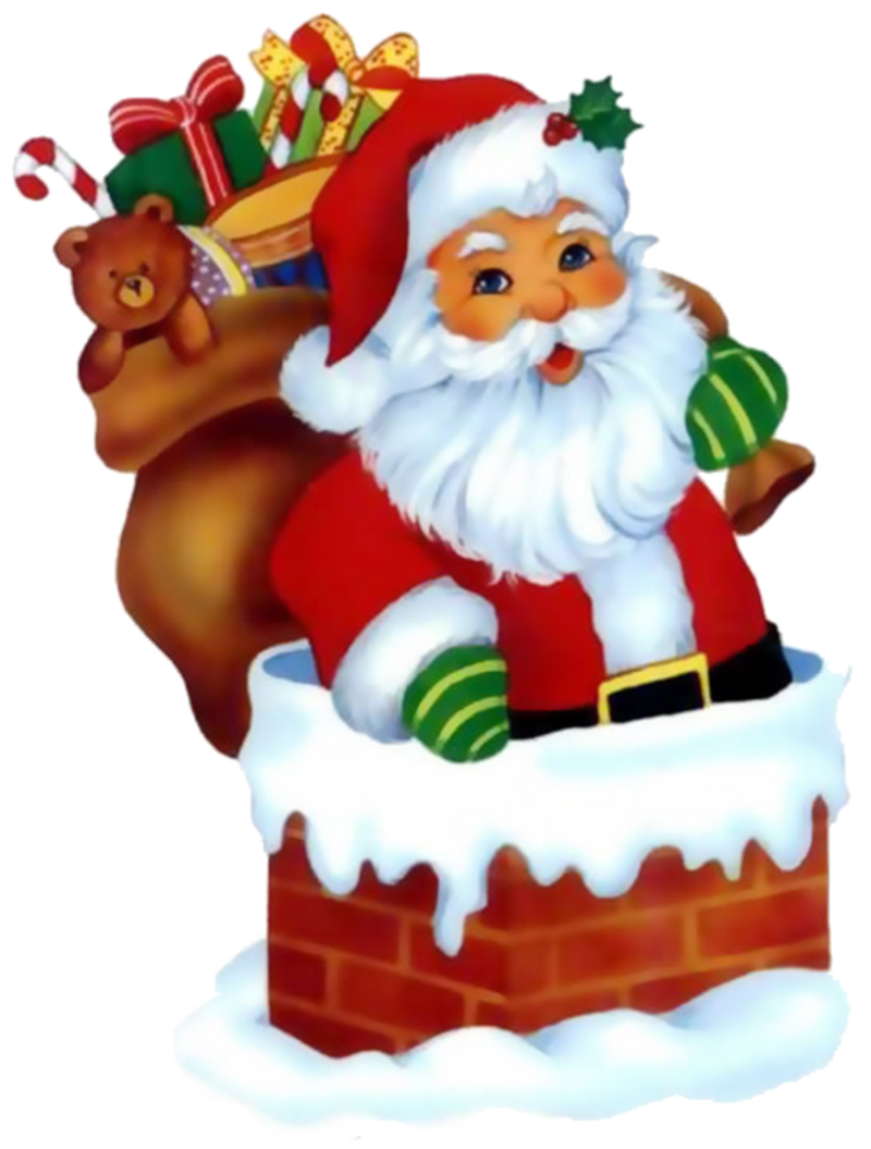Mailbox clipart holiday card. Christmas santa clip art