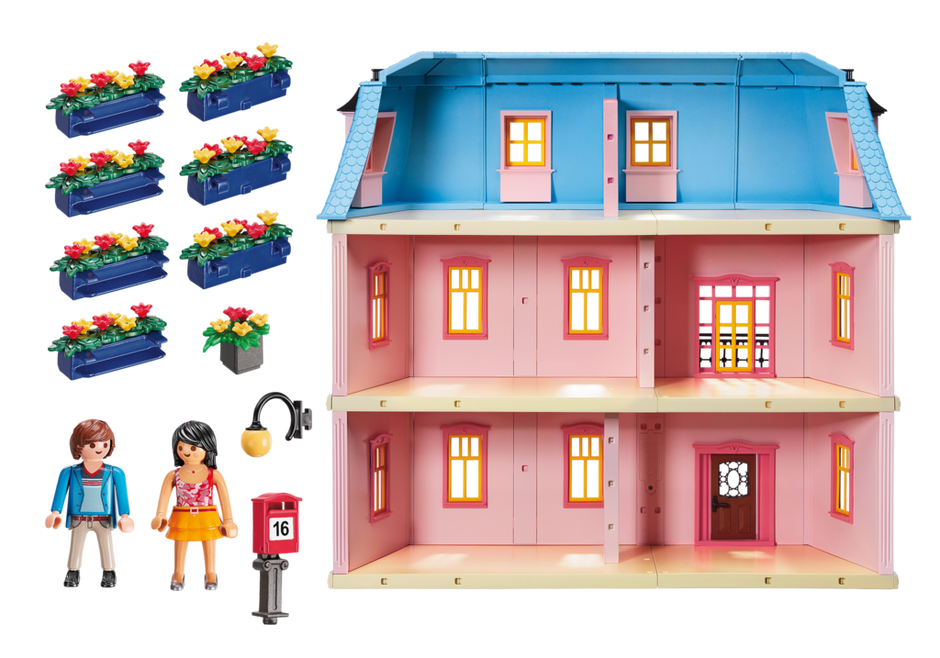 Mailbox clipart house furniture. Deluxe dollhouse playmobil usa