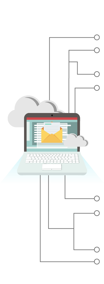 Cloud solutions business email. Mailbox clipart junk mail