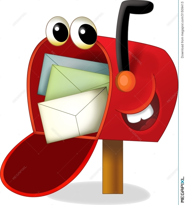 Mailbox clipart kid. The cartoon illustration for