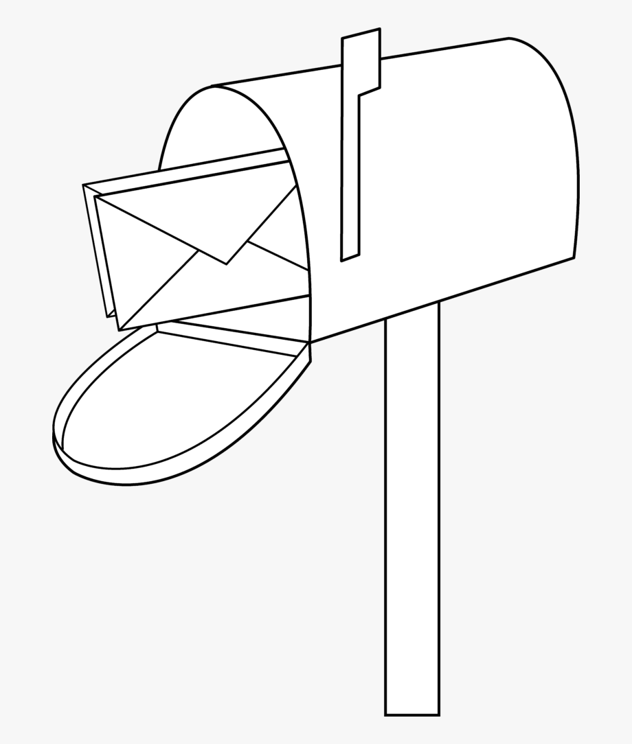 Mailbox clipart mail border. Black and white free