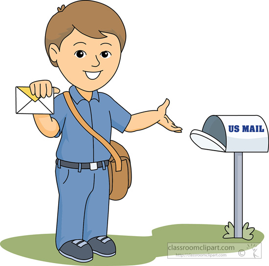 Mailbox clipart mail carrier. Delivering to portal