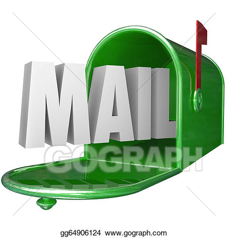 Mailbox clipart mail delivery. Drawing word postal new