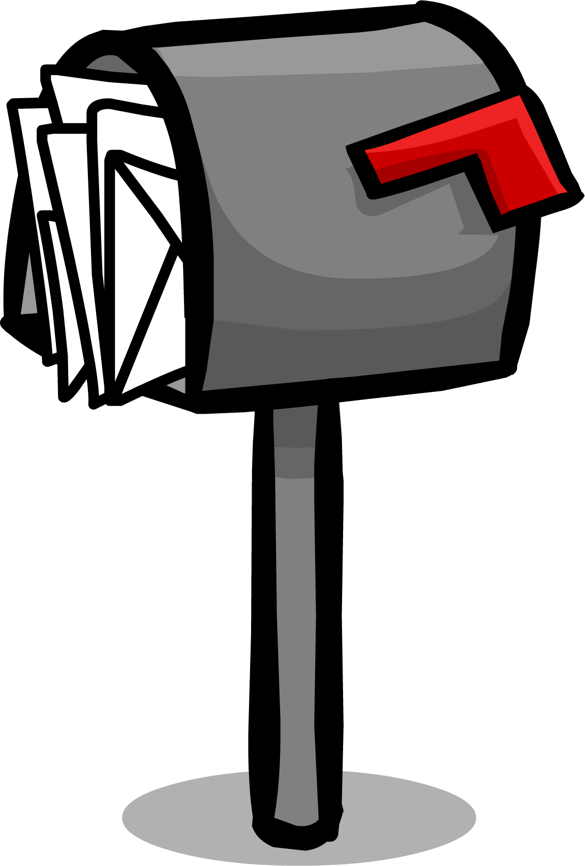 Mailbox clipart mail letter. Post box club penguin