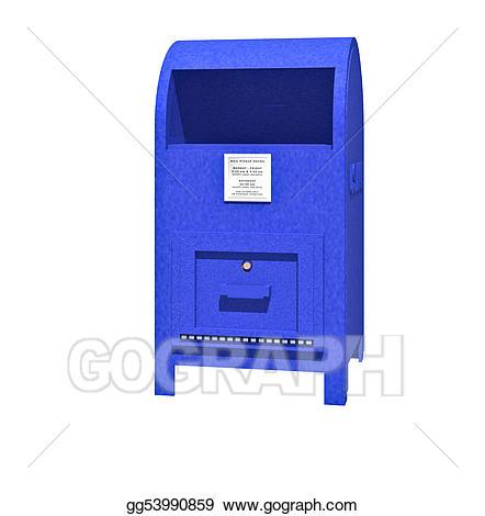 Stock illustration gg gograph. Mailbox clipart mailbox us