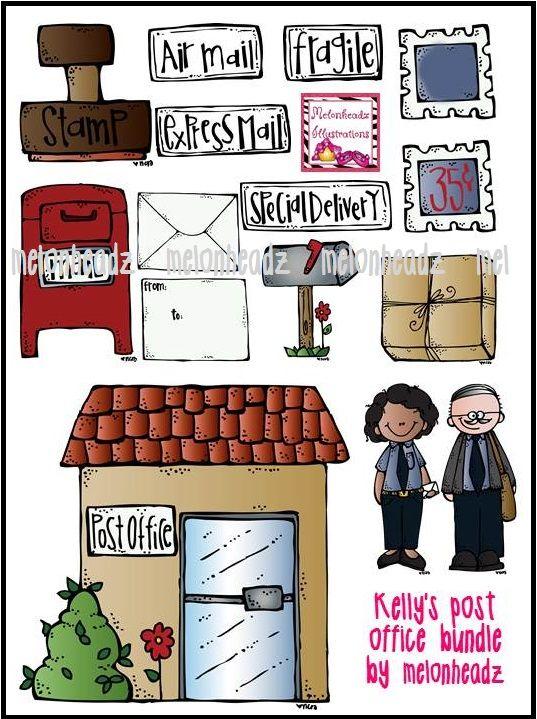 Post office bundle a. Mailbox clipart melonheadz