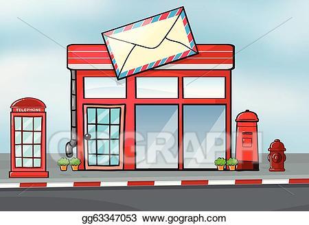 Vector art a post. Mailbox clipart office