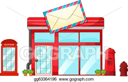 Eps illustration a post. Mailbox clipart office