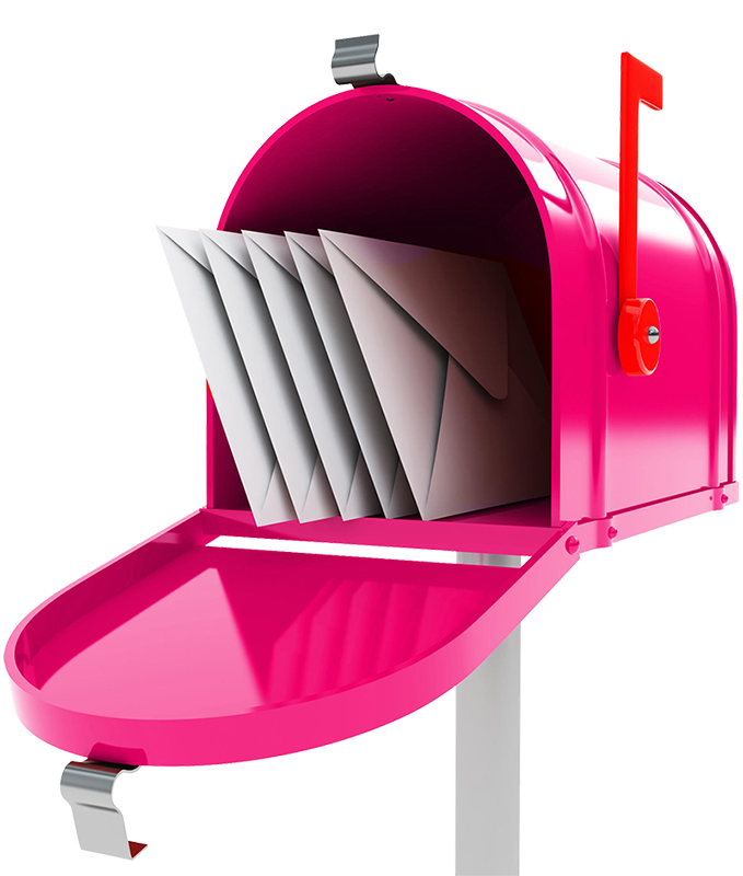Heart funds exists to. Mailbox clipart pink