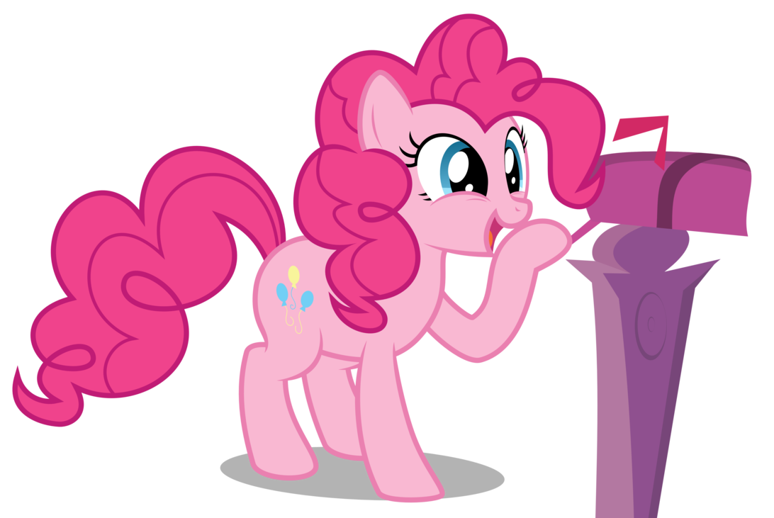 Mailbox clipart pink. Pinkie pie smiling to