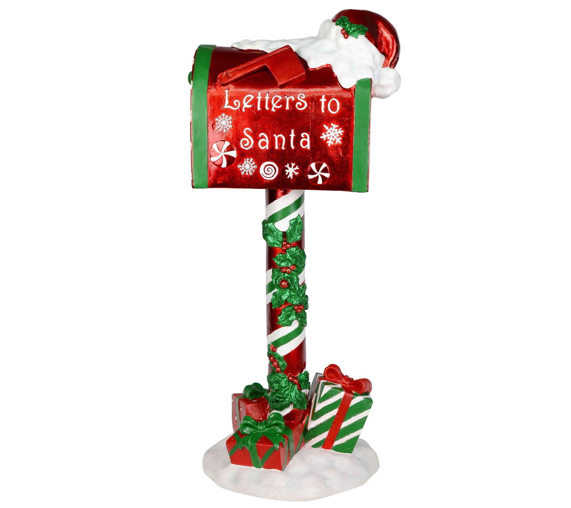bright red by. Mailbox clipart santa