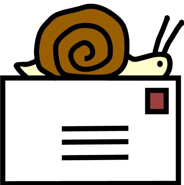 Mailbox clipart snail mail. The pen is mightier