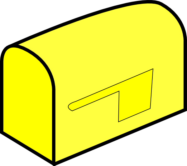 Yellow clip art at. Mailbox clipart snail mail