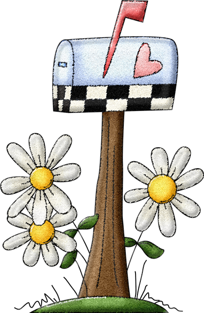 Mailbox clipart spring. Monday march blue thistle