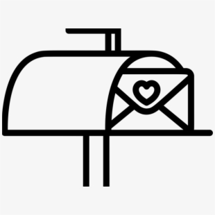 Vector black and white. Mailbox clipart spring
