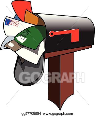 Vector illustration eps gg. Mailbox clipart stuffed