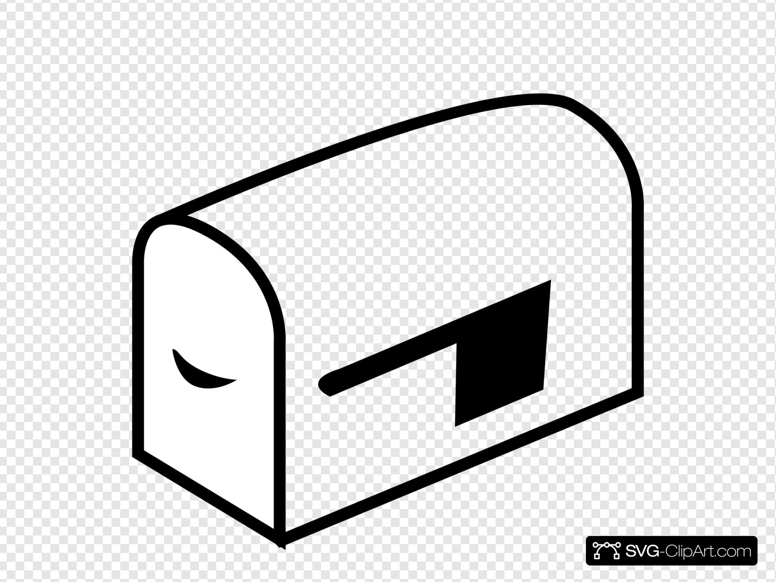 Mailbox clipart svg. Clip art icon and