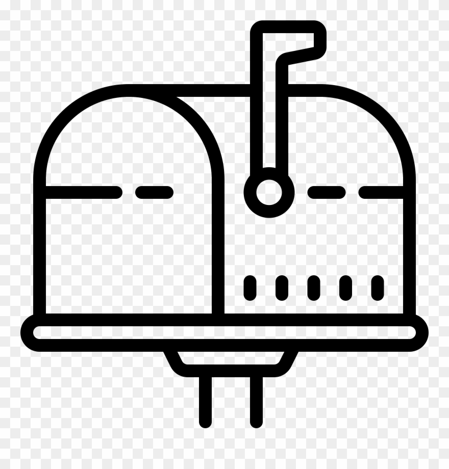 Mailbox clipart up flag. Opened icon pinclipart