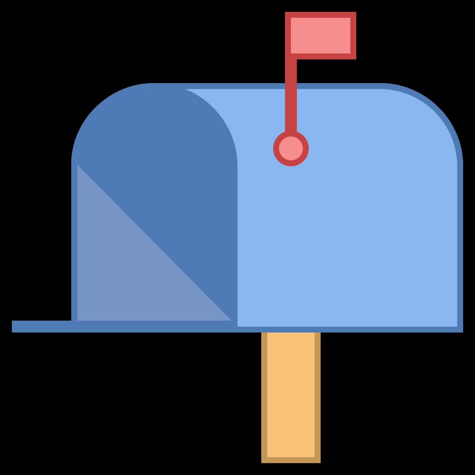 icon kostenloser download. Mailbox clipart up flag