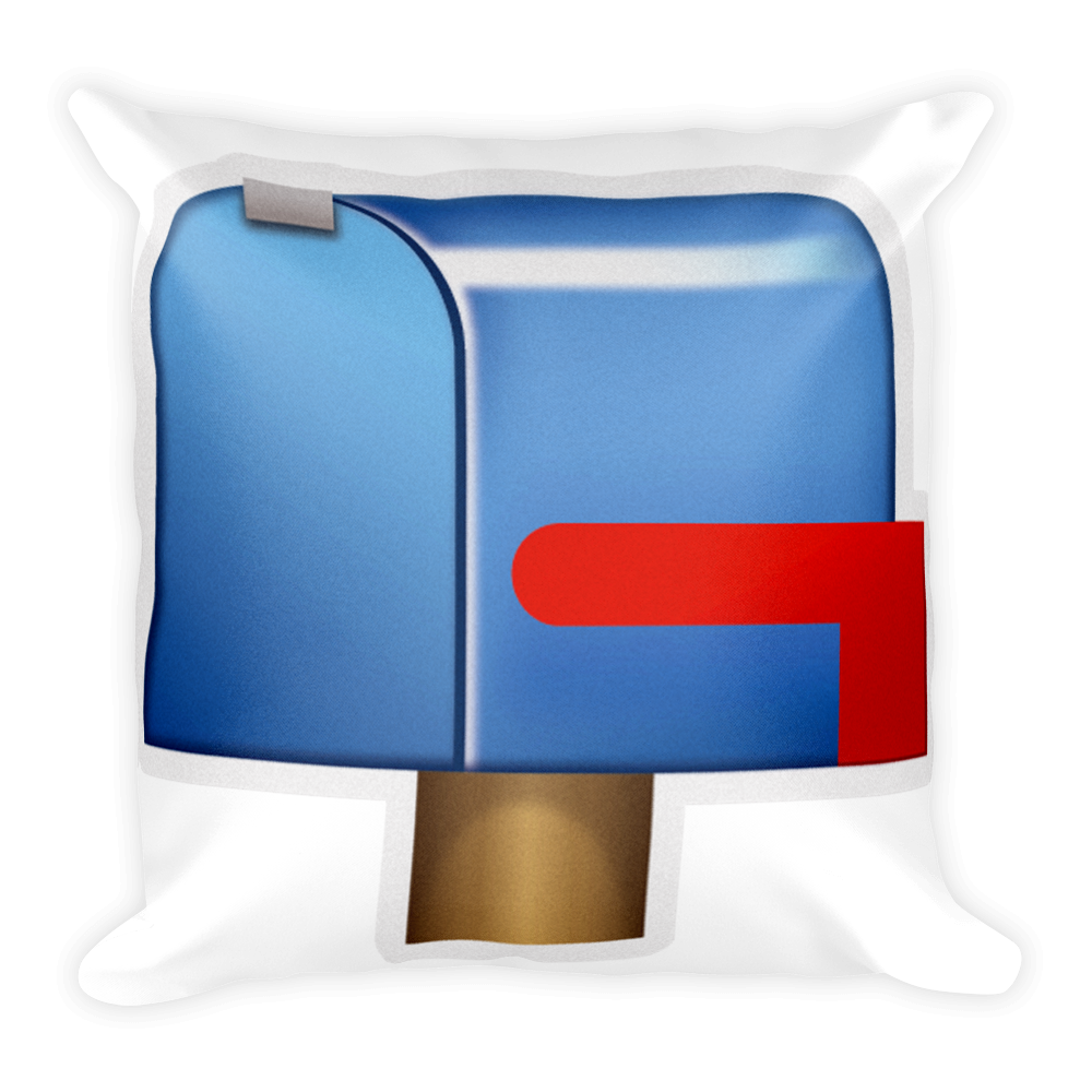 Emoji pillow closed with. Mailbox clipart up flag