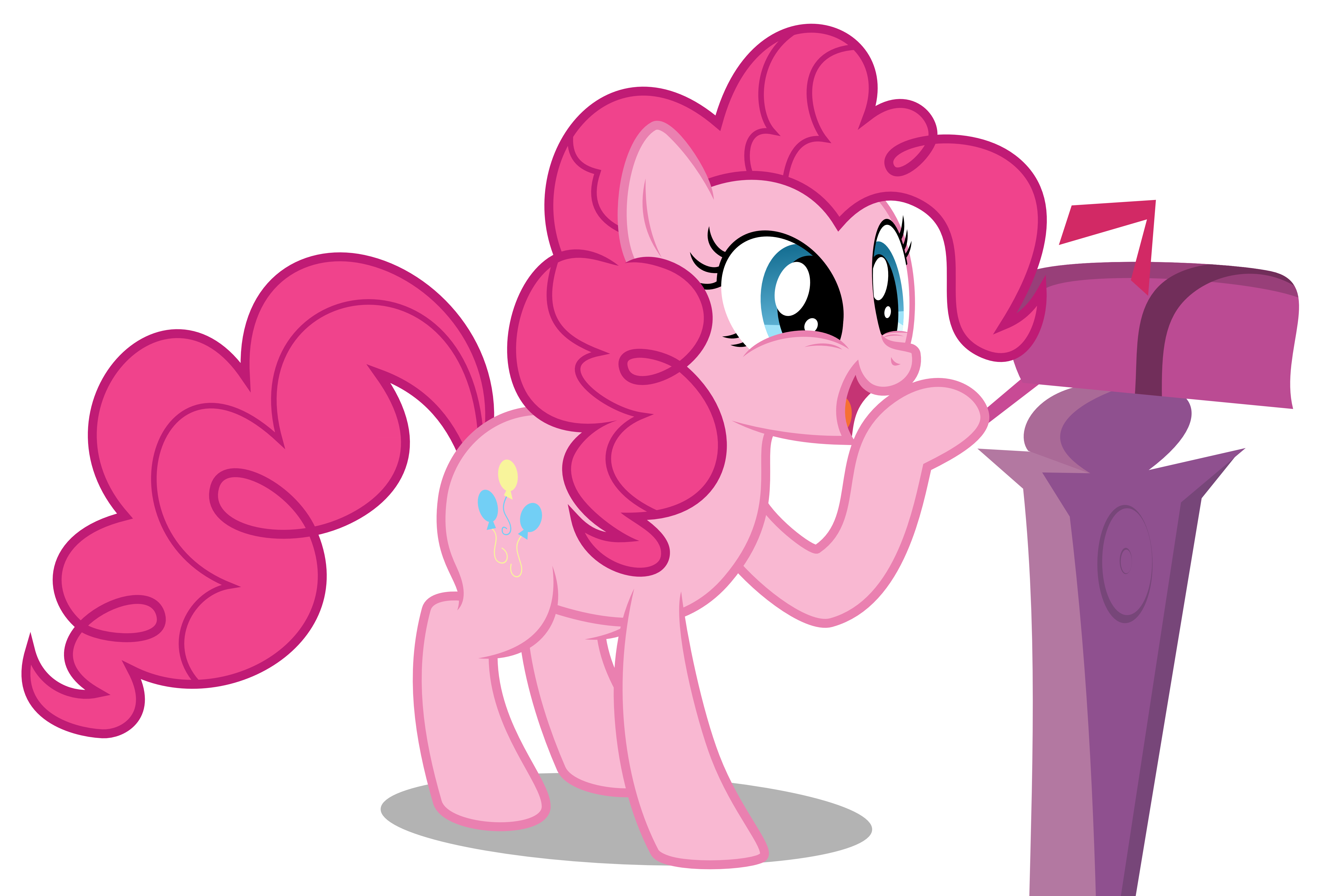 Pinkie pie smiling to. Mailbox clipart vector