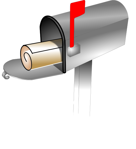 White grass clip art. Mailbox clipart vector
