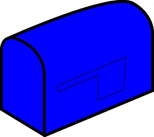 Mailbox clipart vector. Blue clip art at