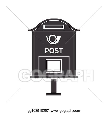 Mailbox clipart vintage mailbox. Eps vector mail letter