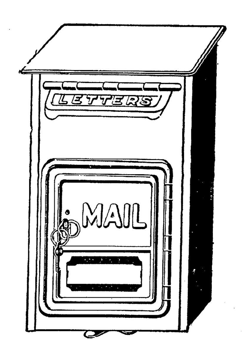 Mailbox clipart vintage mailbox. Carolyn iott on twitter