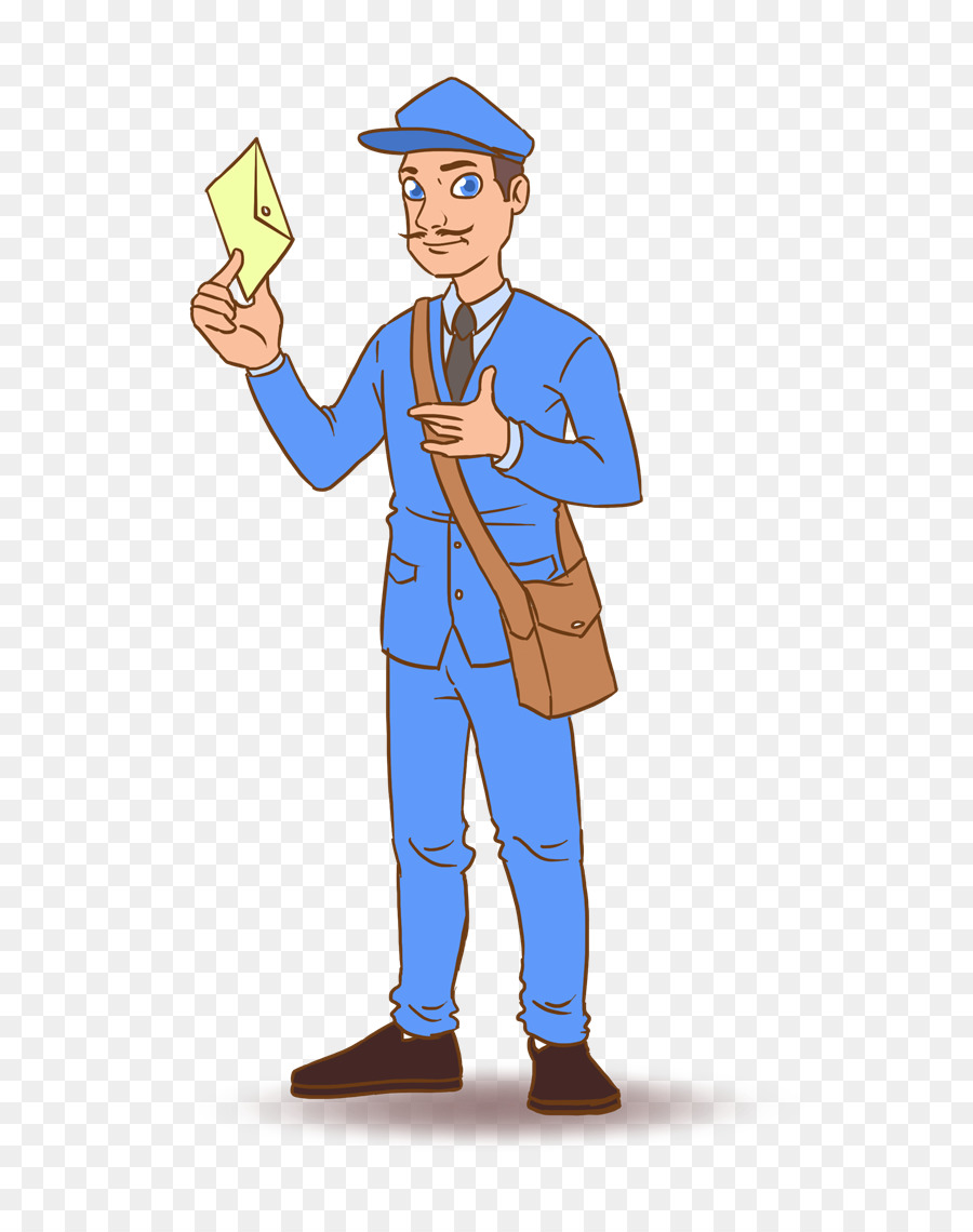 Mail carrier royalty free. Mailman clipart