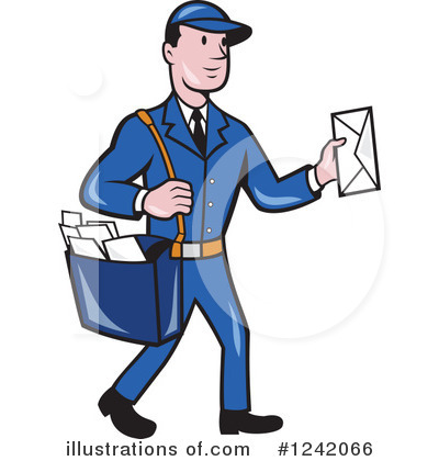 Illustration by patrimonio royaltyfree. Mailman clipart