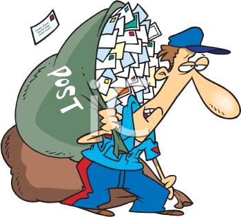 Mailman clipart. Fallen mailbox clip art